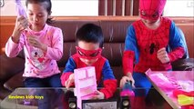 Spiderman and Barbies /Barbies Dress-up party- Living Dolls Barbie & Ken