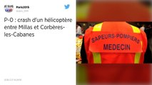 Pyrénées-Orientales. Deux morts dans un accident d'hélicoptère.