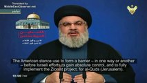 Hassan Nasrallah: Trump's Quds (Jerusalem) decision threatens to wipe out Palestine & Aqsa Mosque