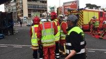Marseille : un camion de transport de verre se renverse sous la passerelle Rabatau