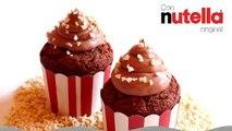 Receta de cupcakes de Nutella | Cupcakes de chocolate | Frosting de Nutella