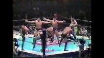 Hiromitsu Kanehara/Kazushi Sakuraba/Kenichi Yamamoto/Masahito Kakihara vs Shinjiro Otani/Tatsuhito Takaiwa/Tokimitsu Ishizawa/Yuji Nagata (New Japan February 17th, 1996)