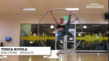 First Time Trying Roue Cyr Wheel   Awesome Academy