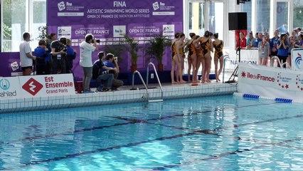 Équipes libres Open de France de natation artistique - FINA World Séries 2018