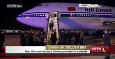 Chinese President Xi Jinping arrives in London for state visit to Britain