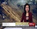 Deathly landslide in Colombia caused by heavy rains