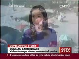 Video footage shows moment of quake in Yunnan