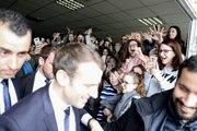 Allocution du Président de la République, Emmanuel Macron, au lycée general technologique et professionnel Therese Planiol, Loches