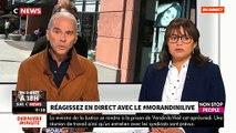 """Extrait de """"Morandini Live"""" sur CNews et Non Stop People sur l'affaire du testament de Johnny Hallyday"""