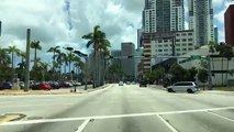 Driving Downtown - Miamis Main Road - Miami Florida USA