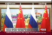 """Chinese Vice Premier hails """"3rd pillar"""" of China-Russia ties"""