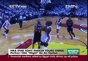 NBA star Tony Parker tours China