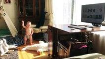 Un bébé danse en couche-culotte comme un pro !