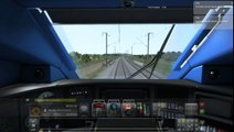 Train Simulator 2016: TGV Duplex (Making top speed 525 km/h)