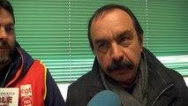 Hautes-Alpes: Philippe Martinez, secrétaire général de la CGT, apporte son soutient au cheminots de la ligne des Alpes