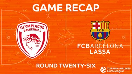 EuroLeague 2017-18 Highlights Regular Season Round 26 video: Olympiacos 63-90 Barcelona