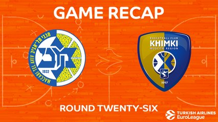 EuroLeague 2017-18 Highlights Regular Season Round 26 video: Maccabi 91-94 Khimki