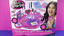 Cra-Z-Art Shimmer n Sparkle Ultimate Body Art & Gem Sticker Studio! DIY Sparkle Gem Stickers! Fun