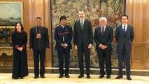Evo Morales se reúne con el Rey y Rajoy en Madrid
