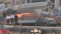 Ascienden a seis las víctimas mortales por el hundimiento de un puente en Miami