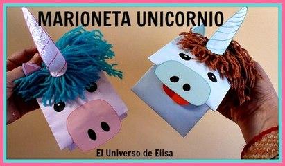 Marioneta Unicornio, Manualidades Kawaii, Cómo hacer un Unicornio de Papel