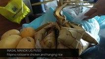 The BEST Filipino Rotisserie Chicken with Hanging Rice in Cebu City Philippines