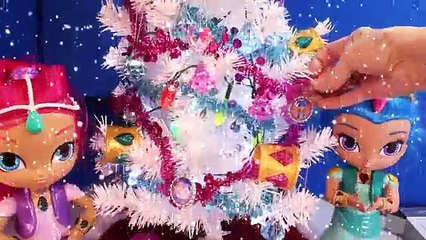Shimmer and Shine CHRISTMAS TREE DIY Craft SURPRISE TOYS