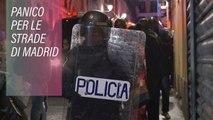Strade in fiamme a Madrid: un immigrato è morto