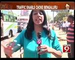 PM visit, traffic snarls choke Bengaluru- NEWS9