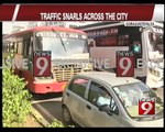 Bengaluru, Traffic snarls across the city -  NEWS9