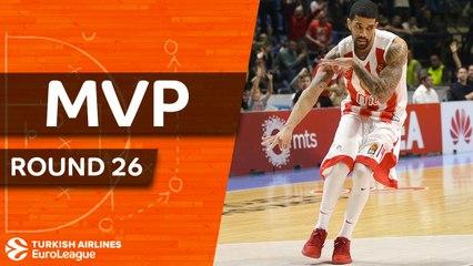 Round 26 MVP: James Feldeine, Crvena Zvezda mts Belgrade