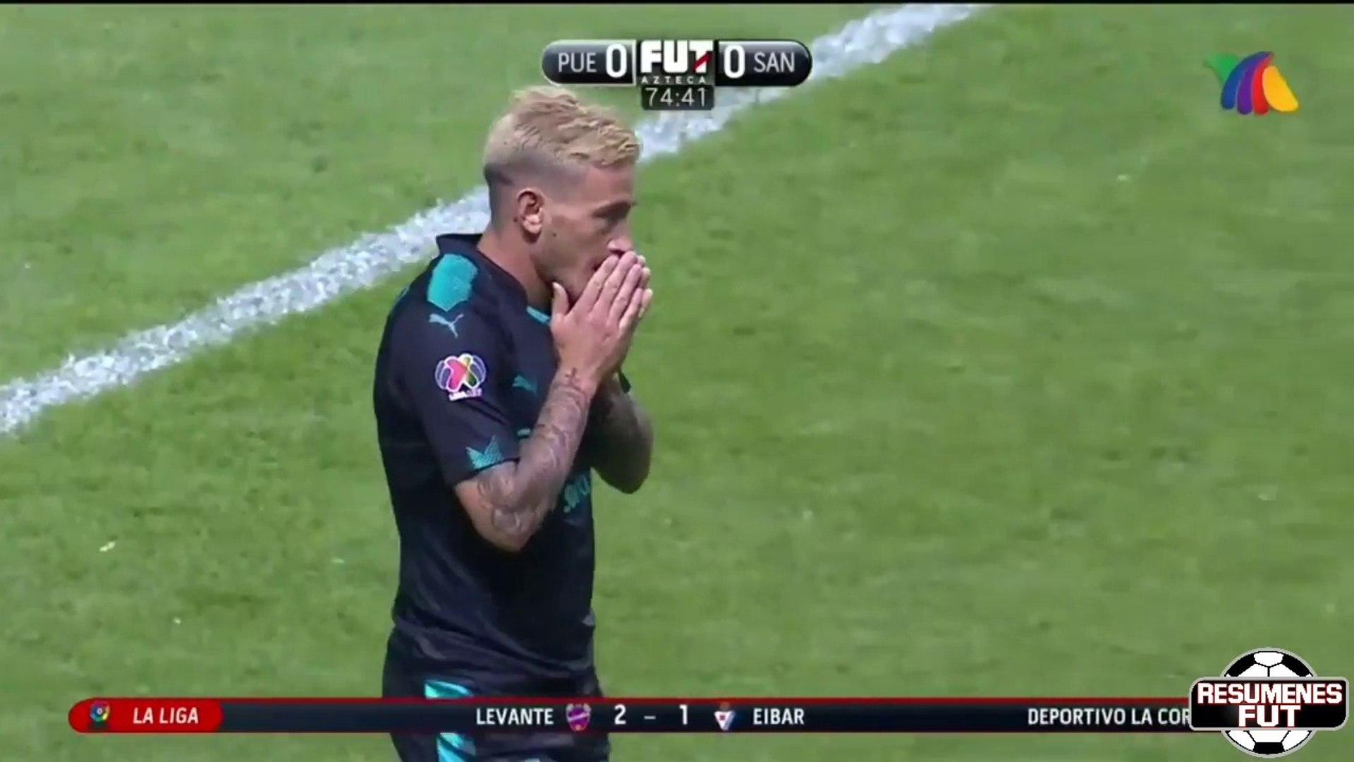 Puebla vs Santos 0-1 Resumen Gol Liga MX 2018