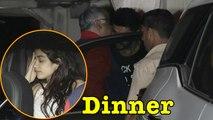 Boney Kapoor with son Arjun Kapoor,Janhvi Kapoor & khushi Kapoor at Dinner