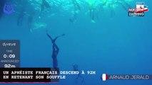 Un apnéiste français descend à 92 mètres en retenant son souffle (vidéo)
