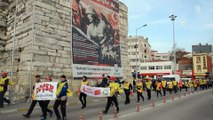 57 gönüllüden 57'nci Alay yürüyüşü - ÇANAKKALE