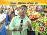 Russell market, vendors use swiping machines now - NEWS9
