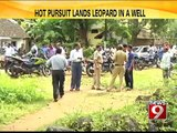 Karwar, hot pursuit lands leopard in a well - NEWS9