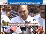 NEWS9: Bengaluru, shocking statement by KS Eshwarappa