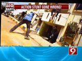 NEWS9: Bengaluru, action stunt goes wrong