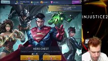 Injustice 2 Mobile 1 3 200 HERO PACK OPENING  Got all new