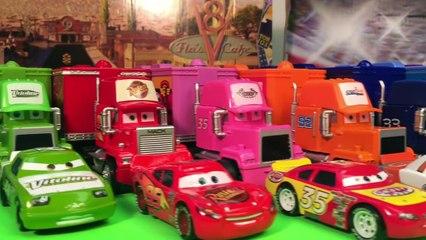 10 truck haulers and racers disney pixar cars piston cup racers hauler ligtning mcqueen mack hauler
