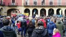 Miles de personas se manifiestan en Gijón por un aire sano y contra la contaminación en Asturias. MANIFIESTO