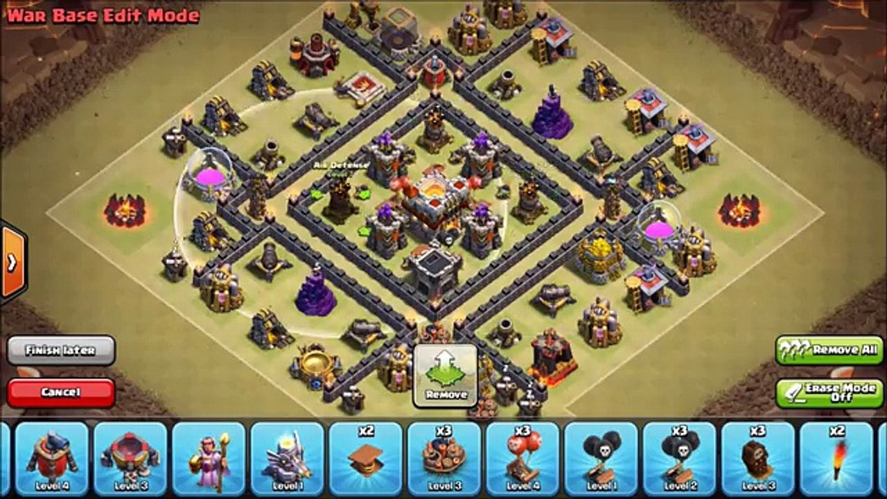 TH7 Anti Dragon War Base ○ Town Hall 7 Base Setup Layout Strategy ○ Clash  of Clans TH7 3 Air Defense - Vídeo Dailymotion