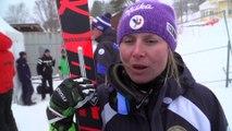 Interview - Tessa Worley fait le bilan sur sa saison apres l annulation su Slalom Géant à Are - Crédit Vidéo FFS / Eurosport
