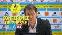 Conférence de presse Olympique de Marseille - Olympique Lyonnais (2-3) : Rudi GARCIA (OM) - Bruno GENESIO (OL) / 2017-18