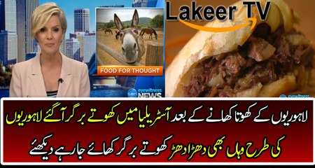 A Australian Restaurant Selling Donkey Burgers