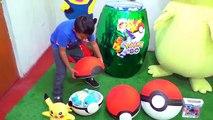 Huevo Gigante Sorpresa de Pókemon - Juguetes y Pokebolas de Pikachu, Charmander, Chikorita