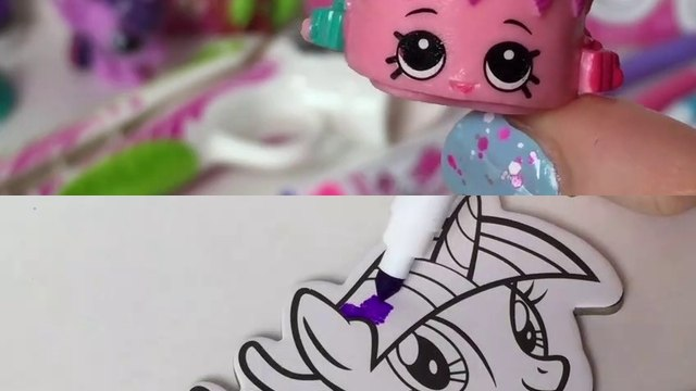 My Little Pony DIY Pop Out Art - DohVinci Play Doh Craft - Shopkins MLP Blind Bag Toy Surprises