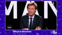 Laurent Delahousse gêné qu'on parle de sa compagne en direct