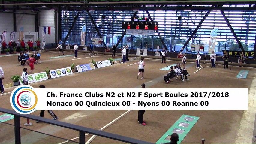 Premier tour, tir rapide en simple, finale N2F Nyons contre Roanne, finale N2 Monaco contre Quincieux, France Clubs 2018, Balaruc-les-Bains 2018